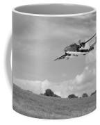B-25 Warbird Returns - Black And White Coffee Mug