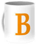 B In Tangerine Typewriter Style Coffee Mug