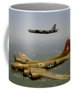 B17g And B52h In Flight Coffee Mug
