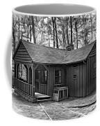 Babcock State Park Cabin - Paint Bw Coffee Mug