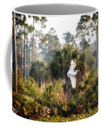 Babcock Wilderness Ranch - Gliding Great Egret Coffee Mug