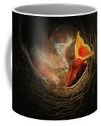 Baby Bird In The Nest With Mouth Open Coffee Mug