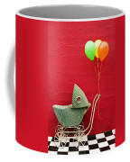 Baby Buggy With Red Wall Coffee Mug