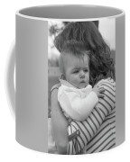 Baby Content On Mom's Shoulder Coffee Mug