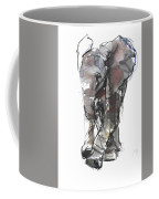 Baby Elephant Study Coffee Mug