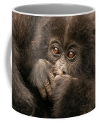 Baby Gorilla Close-up Hiding Mouth With Hands Coffee Mug