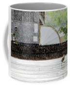 Baby Seagull Running In The Rain Coffee Mug
