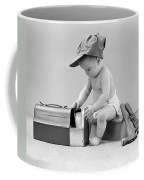 Baby With Work Tools And Lunch Pail Coffee Mug