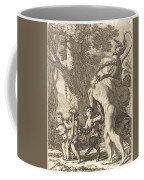 Bacchanal With Figures Carrying A Vase Coffee Mug