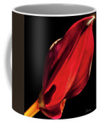 Back Lit Black Calla Lily Coffee Mug