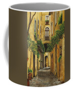 Back Street In Italy Coffee Mug by Charlotte Blanchard