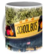 Back To School Bus Watercolor Coffee Mug