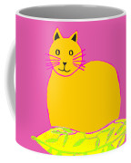 Background Colour Choice Saffron Cat Coffee Mug