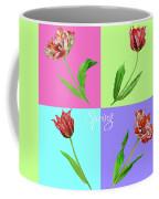 Background With Tulips Coffee Mug