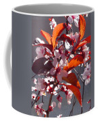 Backlit Pink Tree Blossoms Coffee Mug
