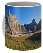 Badlands Sunset On Wihite Sandstpone Coffee Mug