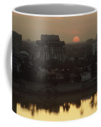Baghdad And The Tigris River At Sunset Coffee Mug by Lynn Abercrombie