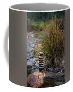 Balancing Zen Stones In Countryside River V Coffee Mug
