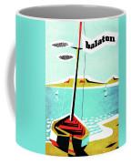 Balaton Lake, Hungary, Fishing Boat On The Coast Coffee Mug