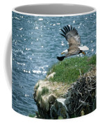 Bald Eagle Leaves Nest Coffee Mug