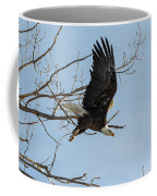 Bald Eagle Makes An Aggressive Dive Coffee Mug
