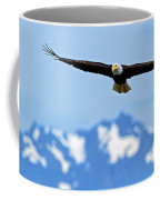 Bald Eagle Soars Over Hood Canal Coffee Mug