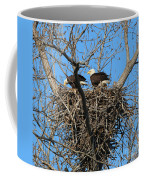 Bald Eagles Working On The Nest   3682 Coffee Mug