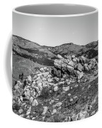 Bald Mountain Rock Formation In Black And White Coffee Mug