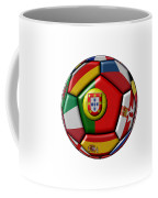 Ball With Flag Of Portugal In The Center Coffee Mug