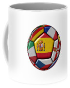 Ball With Flag Of Spain In The Center Coffee Mug