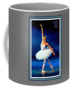 Ballerina On Stage L A With Alt. Decorative Ornate Printed Frame.  Coffee Mug