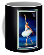 Ballerina On Stage L A With Decorative Ornate Printed Frame. Coffee Mug