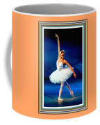 Ballerina On Stage L B With Alt. Decorative Ornate Printed Frame. Coffee Mug