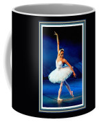 Ballerina On Stage L B With Decorative Ornate Printed Frame. Coffee Mug