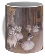 Ballet Rehearsal On The Stage Coffee Mug