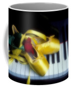 Ballet Shoes On Piano Keys Coffee Mug by Garry Gay