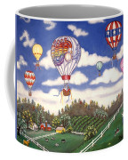 Ballooning Over The Country Coffee Mug