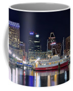 Baltimore Harbor At Night Coffee Mug