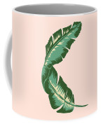 Banana Leaf Square Print Coffee Mug by Lauren Amelia Hughes