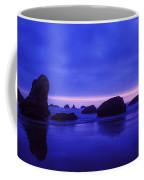 Bandon Beach Oregon Blue Sunset Coffee Mug