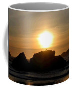 Bandon Beach Silhouette Coffee Mug by Will Borden