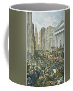 Bank Panic, 1884 Coffee Mug