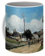 Banks Of The Oise At Pontoise Coffee Mug