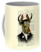 Banteng With Hummingbirds Coffee Mug