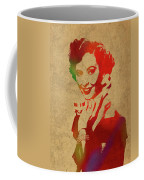 Barbara Stanwyck Watercolor Portrait Coffee Mug