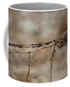 Barbed Wire Entwined With Dried Vine In Autumn Coffee Mug