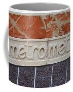 Barcelona Spain Metro Sign Coffee Mug