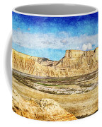 Bardenas Desert Panorama 3 - Vintage Version Coffee Mug