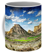 Bardenas Desert Panorama 4 - Vintage Version Coffee Mug