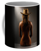 Bare Back Of A Woman In A Straw Hat Coffee Mug